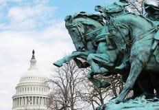 Kavallerie und Kapitol Stockfoto
