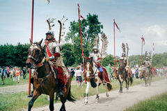 kavallerihussars Arkivbilder
