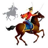 kavallerihussarsoldater vektor illustrationer