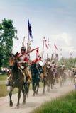 kavallerihussarsritt Arkivbilder