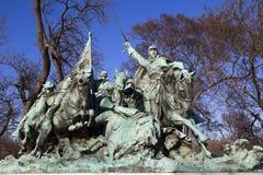 Kavalleriladdning Ulysses USA Grant Statue Civil War Memorial Arkivfoto