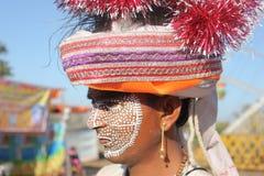 Kavant, Nr Chhota-Udepur, Dist :巴罗达,古杰雷特,印度 免版税库存照片