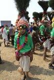 KAVANT GER FAIR near Chhota Udepur  around 120 kms from BARODA. Rathva Tribal community men and women makeup & dressed in their distinctive finery gradually Stock Photos
