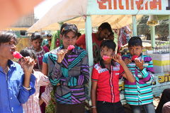 Kavant, Nr Chhota-Udepur, Dist: Vadodara, Gujarat, Índia Imagens de Stock Royalty Free