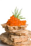 Kaviar auf Chipsletten Lizenzfreie Stockfotografie