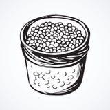 Kaviar Blumenhintergrund mit Gras Stockfoto