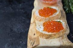 Kaviar der roten Lachse Stockfotografie