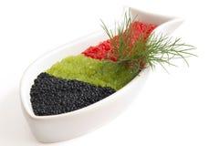 Kaviar in einem schalenförmigen Über lizenzfreie stockbilder