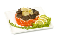 Kaviar för tofu för Shiitakechampinjoner Royaltyfri Fotografi