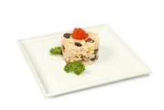 Kaviar för tofu för Shiitakechampinjoner Arkivbilder