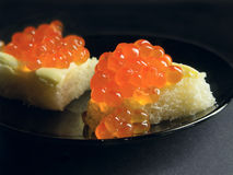 Kaviar sandwich2 Lizenzfreies Stockbild