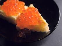Kaviar sandwich4 Lizenzfreie Stockfotos