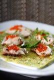 Kaviar und Fische lizenzfreies stockbild