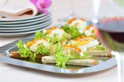 kaviarostrostat bröd Fotografering för Bildbyråer