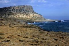 Kavo Greco teren na Cypr Obraz Royalty Free