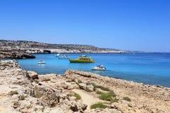 Kavo Greko海角在塞浦路斯 免版税库存照片