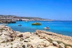 Kavo Greko海角在塞浦路斯 免版税库存图片