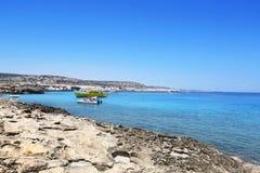 Kavo Greko海角在塞浦路斯 库存图片