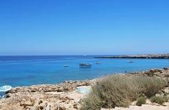 Kavo Greko海角在塞浦路斯 免版税图库摄影
