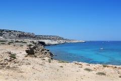 Kavo Greko udde i Cypern Royaltyfri Foto