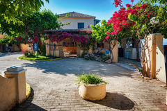 Kavos village, Greece stock image