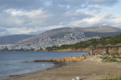 Kavouristrand in Athene Stock Afbeelding