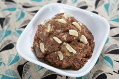 Kavuni rice halwa/black rice porridge/purple rice porridge. Kavuni rice or black rice or purple rice is a very rich food with high nutrient content and Royalty Free Stock Image