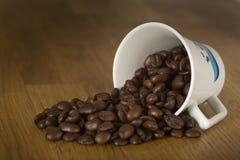 Kaw espresso fasole Zdjęcia Royalty Free