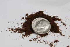 Kaw espresso ziemie Fotografia Royalty Free