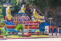 Kaw KaThaung grotta, Hpa-an, Myanmar royaltyfria foton