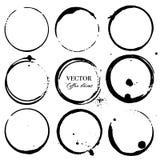 Kaw plamy, Czarny atramentu okrąg odizolowywający na białym tle royalty ilustracja