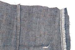 Kawałek niebiescy dżinsy tkanina obrazy stock