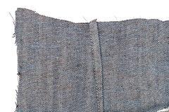 Kawałek niebiescy dżinsy tkanina fotografia royalty free