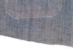 Kawałek niebiescy dżinsy tkanina zdjęcie royalty free