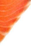 Kawałek łosoś na bielu Obraz Stock