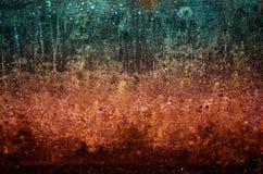 Kawałek ściana trzy koloru, seledyn, czerwień, czerwonawy i brown zdjęcia royalty free