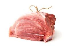 Kawałek świeży mięso na białym tle Fotografia Royalty Free