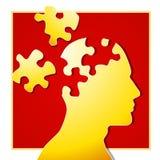 kawałek 2 psychologicznej puzzle ilustracja wektor