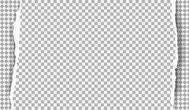Kawałek biały drzejący papierowy pasek z ciosowym wzorem i miękkim cieniem jest na popielatym diamentowym tle r?wnie? zwr?ci? cor ilustracji