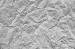 Kawałek biel marszczył papier z miękkim oświetleniem Zdjęcia Royalty Free