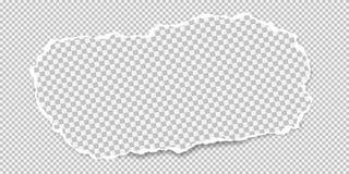 Kawałek biel obciosujący drzejący papierowy pasek z miękkim cieniem jest na białym ciosowym tle r?wnie? zwr?ci? corel ilustracji  royalty ilustracja