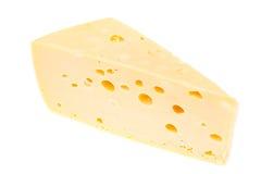 Kawałek ciężki ser na białym tle Fotografia Stock