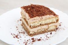 Kawałek ciastko tort na talerzu obraz stock