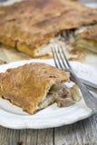 Kawałek domowej roboty tort z mięsem Zdjęcia Royalty Free