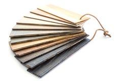 Kawałek drewno koloru przewdonik dla próbki odizolowywającej na białym backgroun Obraz Royalty Free