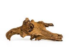 Kawałek drewno na białym tle, Stary drewno, drewno dla domu Obraz Royalty Free
