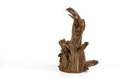 Kawałek drewno na białym tle, Stary drewno, drewno dla domu Obrazy Stock