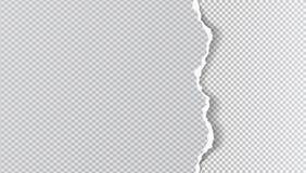 Kawałek drzejący ciosowy papierowy pasek z miękkim cieniem jest na popielatym ciosowym tle r?wnie? zwr?ci? corel ilustracji wekto royalty ilustracja