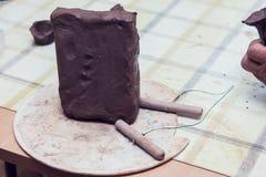 Kawałek glina dla modelować Obrazy Stock