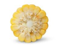 Kawałek kukurydzany cob końcówka widok Obraz Royalty Free